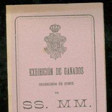 Carteles Feria: EXHIBICIÓN DE GANADO, SEVILLA 1908, EN HONOR DE SS. MM. CABALLOS Y GANADO LANAR Y VACUNO. Lote 28840571