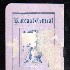 Carteles Feria: SEVILLA. CARNAVAL 1916. KURSAAL. PROGRAMACION (VER FOTOS). . Lote 28842776