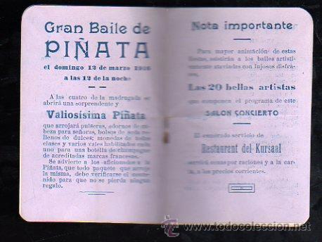 Carteles Feria: SEVILLA. CARNAVAL 1916. KURSAAL. PROGRAMACION (VER FOTOS). - Foto 3 - 28842776