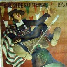 Carteles Feria: CARTEL DE FERIAS Y FIESTAS DE SALAMANCA. 1953. 100 X 70 CM. . Lote 28886969