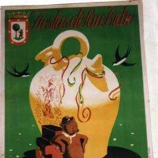 Carteles Feria: CARTEL FIESTAS DE SAN ISIDRO. MADRID 1951. 100 X 70 CM . ILUSTRADOR ECHANOVE CIMA. . Lote 28887267