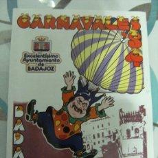Carteles Feria: CARTEL Y PROGRAMA CARNAVALES DE 1984 DE BADAJOZ.. Lote 29192108