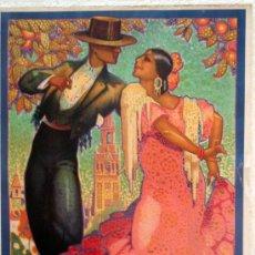 Carteles Feria: CARTEL SEVILLA 1928 FIESTAS PRIMAVERA Y SEMANA SANTA , ILUSTRADOR J. PARRILLA. Lote 29290279