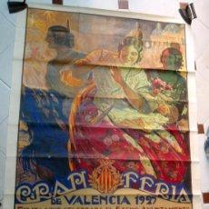 Carteles Feria: ESPECTACULAR CARTEL VALENCIA 1927 GRANDE , FERIA DE JULIO, ILUSTRADO POR TORMO , ORIGINAL. Lote 29320773