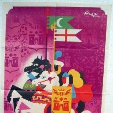 Carteles Feria: CARTEL ALCOY 1957 , FIESTAS MOROS Y CRISTIANOS, ALICANTE, ILUSTRADOR RAGA , ORIGINAL. Lote 29321329