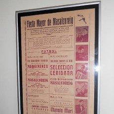 Carteles Feria: FIESTA MAYOR DE MASALCOREIG - LLEIDA. AGOSTO DE 1946. Lote 30271942