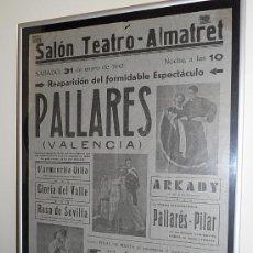 Carteles Feria: FIESTAS ALMATRET - LLEIDA 31 ENERO 1942.. Lote 30272111