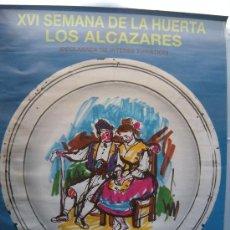 Carteles Feria: CARTEL XVI SEMANA DE LA HUERTA LOS ALCAZARES MURCIA, 1987. Lote 30698617