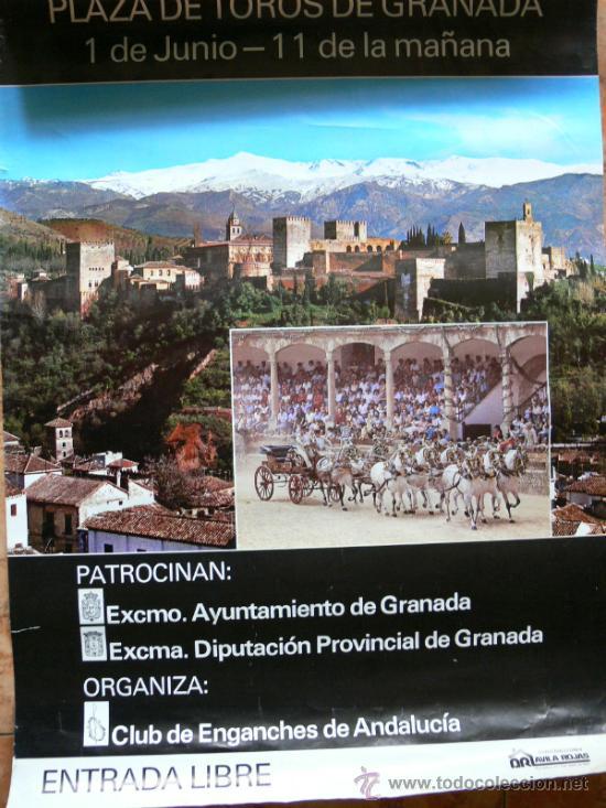 GRANADA CARTEL FERIA DEL CORPUS 1986, (Coleccionismo - Carteles Gran Formato - Carteles Ferias, Fiestas y Festejos)