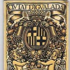 Carteles Feria: IGUALADA.PROGRAMA FESTA MAJOR.1930.. Lote 31180815
