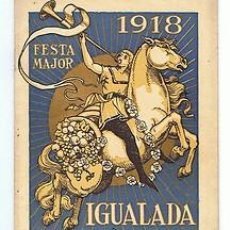 Carteles Feria: IGUALADA.PROGRAMA FESTA MAJOR.1918.IL RENART. Lote 31180933