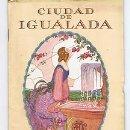 Carteles Feria: IGUALADA.PROGRAMA FIESTA MAYOR.1926.IL R PICHON. Lote 31181061