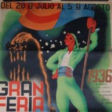 Carteles Feria: CARTEL GRAN FERIA DE VALENCIA AÑO 1936 ORIGINAL ILUSTRADO POR CHAPI. Lote 31270185