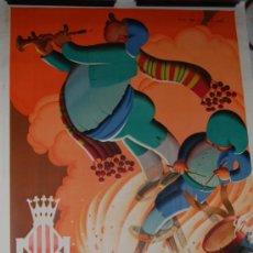 Carteles Feria: CARTEL FALLAS DE VALENCIA AÑO 1933 ORIGINAL ILUSTRADO POR MOLLA. Lote 31270337