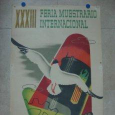 Carteles Feria: VALENCIA - XXXIII FERIA MUESTRARIO INTERNACIONAL - AÑO 1955. Lote 31344976