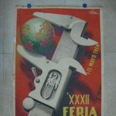 Carteles Feria: VALENCIA - XXXII FERIA MUESTRARIO INTERNACIONAL - AÑO 1954. Lote 31345212