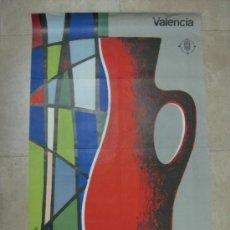 Carteles Feria: VALENCIA - 2ª FERIA MONOGRAFICA DE CERAMICA Y VIDRIO - AÑO 1966. Lote 31345256