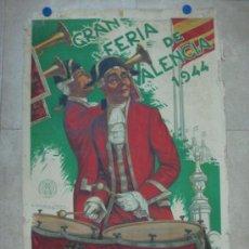 Carteles Feria: VALENCIA - GRAN FERIA DE JULIO - AÑO 1944 - LITOGRAFIA - ILUSTR. M. MORENO GIMENO. Lote 31345340
