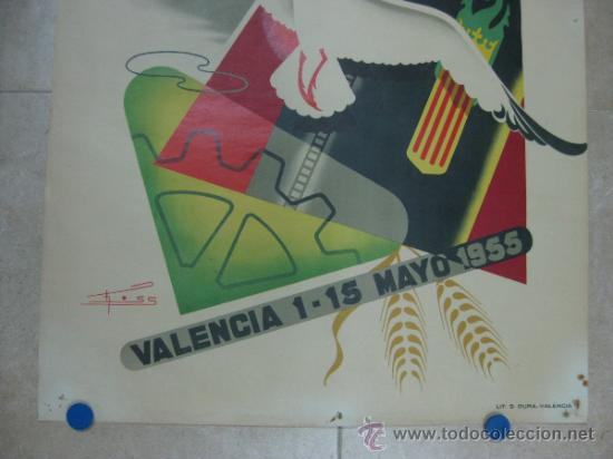 Carteles Feria: VALENCIA - XXXIII FERIA MUESTRARIO INTERNACIONAL - AÑO 1955 - Foto 3 - 31344976