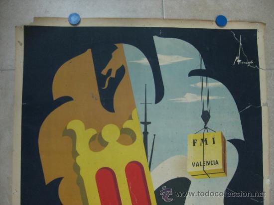 Carteles Feria: VALENCIA - XXX FERIA MUESTRARIO INTERNACIONAL - AÑO 1952 - Foto 2 - 31345159