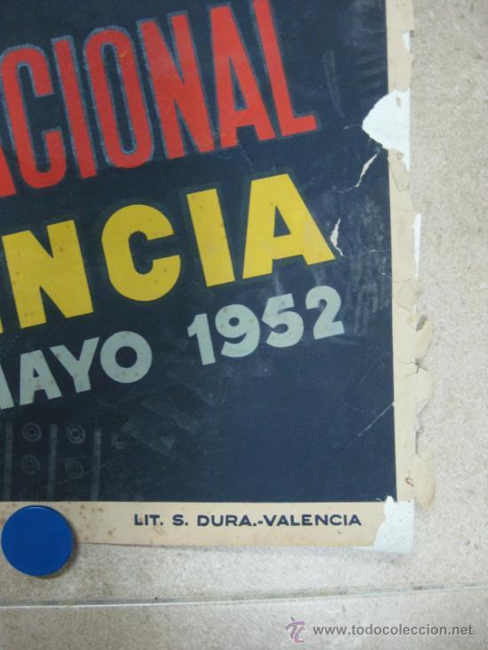 Carteles Feria: VALENCIA - XXX FERIA MUESTRARIO INTERNACIONAL - AÑO 1952 - Foto 4 - 31345159