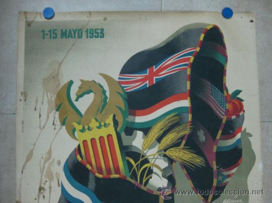 Carteles Feria: VALENCIA - XXXI FERIA MUESTRARIO INTERNACIONAL - AÑO 1953 - Foto 2 - 31345192