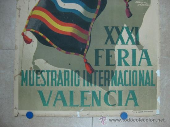 Carteles Feria: VALENCIA - XXXI FERIA MUESTRARIO INTERNACIONAL - AÑO 1953 - Foto 3 - 31345192