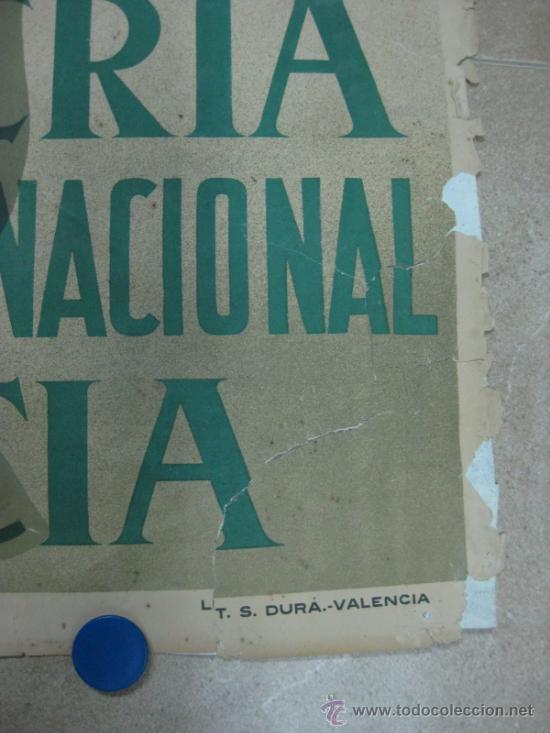 Carteles Feria: VALENCIA - XXXI FERIA MUESTRARIO INTERNACIONAL - AÑO 1953 - Foto 4 - 31345192