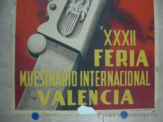 Carteles Feria: VALENCIA - XXXII FERIA MUESTRARIO INTERNACIONAL - AÑO 1954 - Foto 3 - 31345212