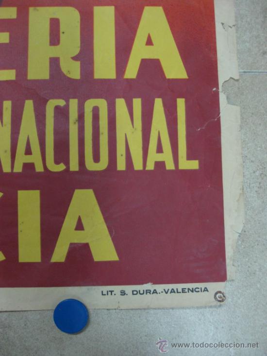 Carteles Feria: VALENCIA - XXXII FERIA MUESTRARIO INTERNACIONAL - AÑO 1954 - Foto 4 - 31345212