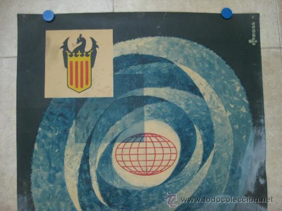 Carteles Feria: VALENCIA - XXXVIII FERIA MUESTRARIO INTERNACIONAL - AÑO 1960 - LITOGRAFIA - ILUSTRADOR: ROSS - Foto 2 - 31345974