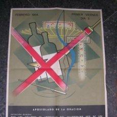 Carteles Feria: CARTEL LITOGRAFICO FEBRERO 1956 AUTOR LOOZA APOSTOLADO DE LA ORACION LA IGLESIA EN VIETNAM . Lote 32168323