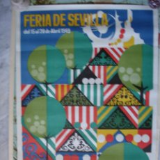 Carteles Feria: CARTEL FERIA SEVILLA 1969.44X65. Lote 37629350