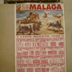Carteles Feria: CARTEL FERIA MÁLAGA 1990 - PLAZA DE TOROS DE MÁLAGA. Lote 32431194