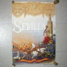 Carteles Feria: CARTEL FIESTAS PRIMAVERA 1992. SEVILLA, JUAN ROLDAN. DEDICADO. 89 X 60 CM.. Lote 32428991