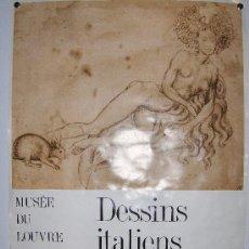 Carteles Feria: MUSEO DEL LOUVRE 62 X40,5 PRECIOSO DEL AÑO 75 GABINET DE DESSINS-ITALIENS DE LÁLBERTINA DE VIENNE . Lote 32702063