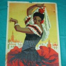 Carteles Feria: CARTEL FERIA DE SEVILLA 1959. MEDIDAS 31X50 CM. Lote 104305599