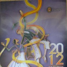 Carteles Feria: CARTEL OFICIAL DE LES FOGUERES DE SANT JOAN DE ALICANTE HOGUERAS 2012. Lote 32841098