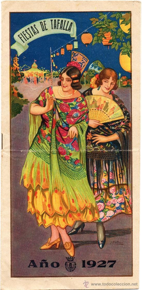 TAFALLA,PAMPLONA,1927,PROGRAMA DE FESTEJOS, MAGNIFICO (Coleccionismo - Carteles Gran Formato - Carteles Ferias, Fiestas y Festejos)