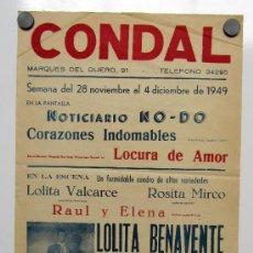 Carteles Feria: CARTEL TEATRO CONDAL AÑO 49, DONDE APARECE EL FAMOSO MIRCO.. Lote 33283555