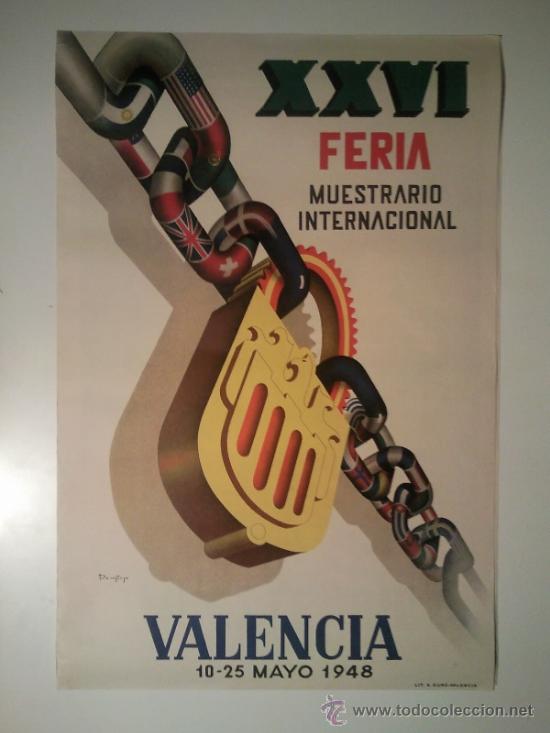FERIA MUESTRARIO INTERNACIONAL VALENCIA 1948 (Coleccionismo - Carteles Gran Formato - Carteles Ferias, Fiestas y Festejos)