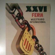 Carteles Feria: FERIA MUESTRARIO INTERNACIONAL VALENCIA 1948. Lote 33370687