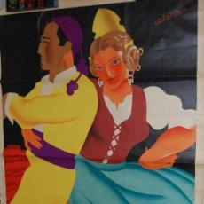 Carteles Feria: GRAN CARTEL DE LA FERIA DE VALENCIA AÑO 1936 ORIGINAL ILUSTRADO POR CALANDIN. Lote 33379801