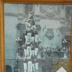 Carteles Feria: CARTEL CASTELLERS NENS DEL VENDRELL -CUATRE DE VUIT- 1958 FESTA MAJOR VILAFRANCA PENEDES 47 X 37 CM.. Lote 33397865