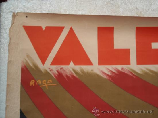 Carteles Feria: CARTEL FALLAS VALENCIA 1934, GRANDE , ILUSTRADOR RAGA , ORIGINAL - Foto 2 - 34265746