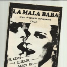 Carteles Feria: LA MALA BABA CARNAVAL REUS 1984 ORGAN AGITACIO CARNAVALESCA CACA. Lote 34971705