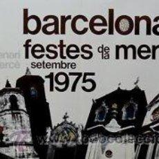 Carteles Feria: CARTEL BARCELONA FESTES DE LA MERCÈ.1975.ABELLA.98 X 68. Lote 35234878