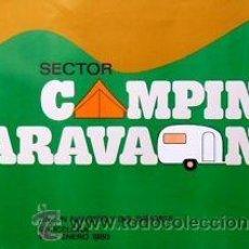 Carteles Feria: CARTEL CAMPING CARAVANING.1980. HUGUET. 69 X 48. Lote 35235210