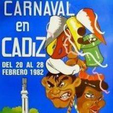 Carteles Feria: CARTEL CARNAVAL DE CADIZ 1982. ORDOÑEZ ORIA. 65 X 96CM.. Lote 35235372
