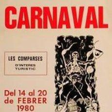 Affissi Fiera: CARTEL CARNAVAL VILANOVA LA GELTRU.1980.LLAVERIAS.40X60. Lote 35235568
